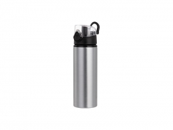 750ml Alu Water Bottle with Clear Cap (Silver) MOQ: 2000