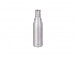 17oz/500ml Glitter Stainless Steel Cola Shaped Bottle(Silver)