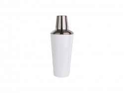 900ml Stainless Steel Cocktail Shaker (White)