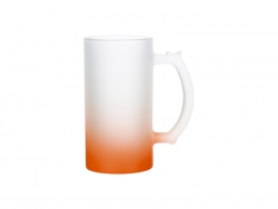 16oz Glass Beer Mug Gradient Orange