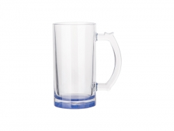 16oz Sublimation Clear Glass Beer Mug (Dark Blue Bottom)